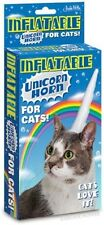Inflatable Unicorn Horn for Cats Pretend Play Costume Halloween Gag Gift