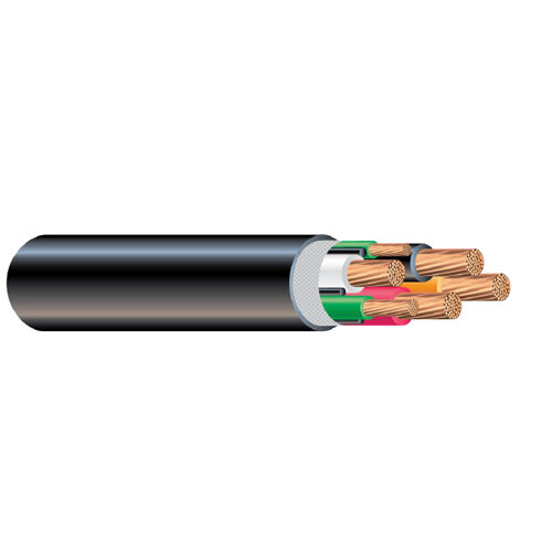 PER FOOT 6//4 Type G Round Power Cable Black 2000V