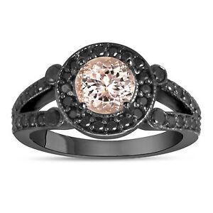 MORGANITE-AND-ENHANCED-BLACK-DIAMONDS-ENGAGEMENT-RING-14K-BLACK-GOLD-1-40-CARAT