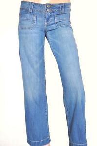 AEROPOSTALE-AVERY-SZ-6-8-WOMENS-Blue-Vintage-Wide-Leg-Short-Leg-Fit-Denim-Jeans