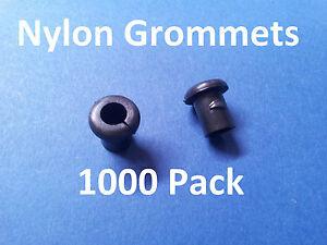 1000-X-NYLON-PLASTIC-GROMMETS-BLACK-for-3-2mm-Stainless-rope-and-balustrade-kits
