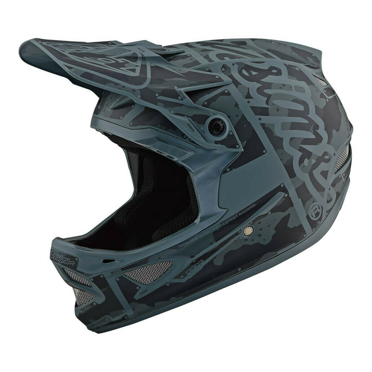 Troy Lee Designs D3 Fiberlite Factory Helmet Camo Green SM   sale online
