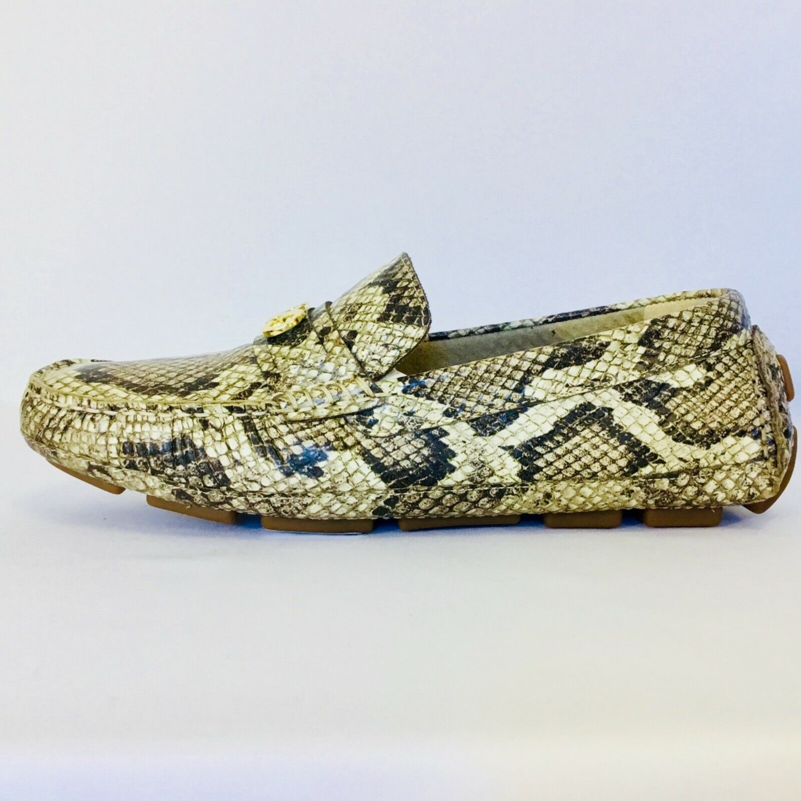 COLE HAAN Snakeskin Driving Loafers, Dimensione 7.5B