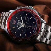 Tevise Men Stainless Steel Luminous Automatic Self-winding Mechanical Watch S2n1
