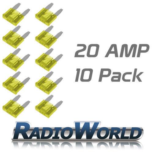 10 20AMP Mini lame fusibles//fusible automotive Van//Voiture