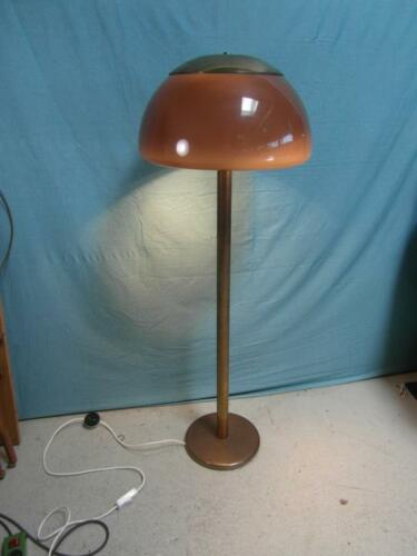 Stehlampe Antik Stil Messing Kunststoff Lampe Leuchte Klassiker Pilz Design SLK