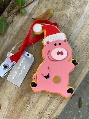 Disney Parks 2019 Toy Story Land Hamm Pig Santa Hat Christmas Ornament