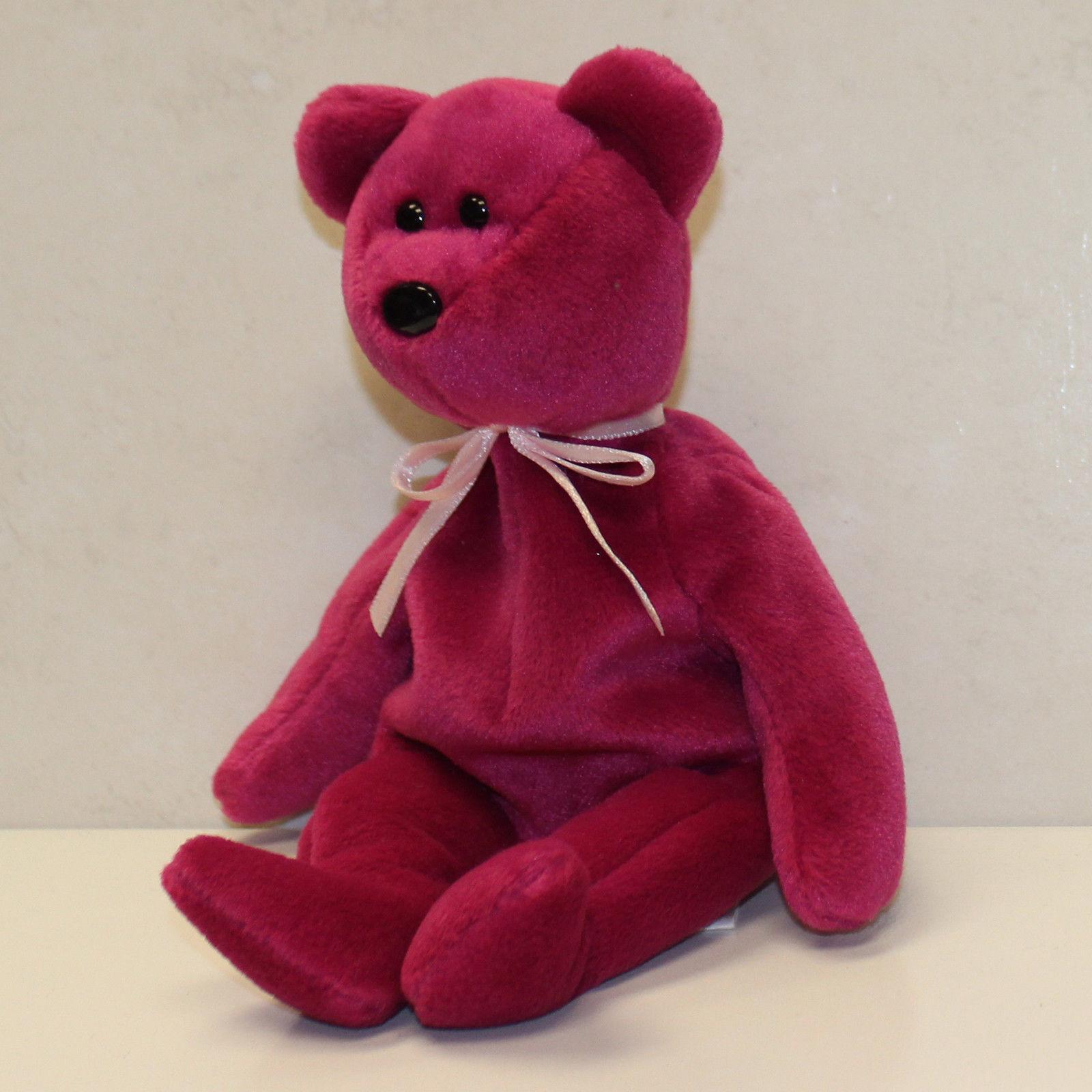 Teddy nf magenta - nht - 1 gen hintern - tag - ty beanie baby (sp)