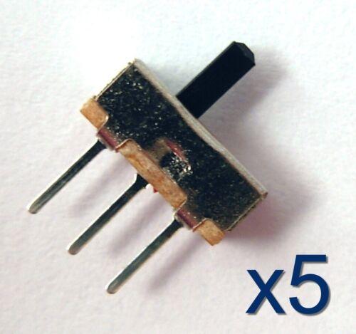 5x interrupteur commutateur à souder 8x3x7,5mm//Switch black Button to weld 3 pin