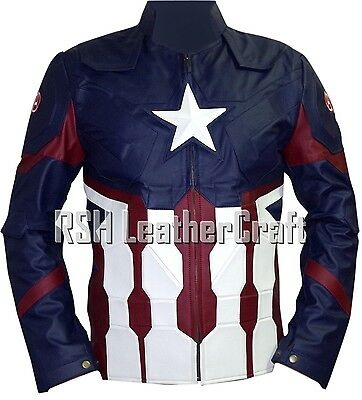 Captain America Civil War Chris Evans Steve Rogers Faux Leather Jacket Costume