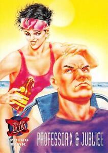 PROFESSOR-X-amp-JUBILEE-X-Men-Fleer-Ultra-1995-BASE-Trading-Card-144