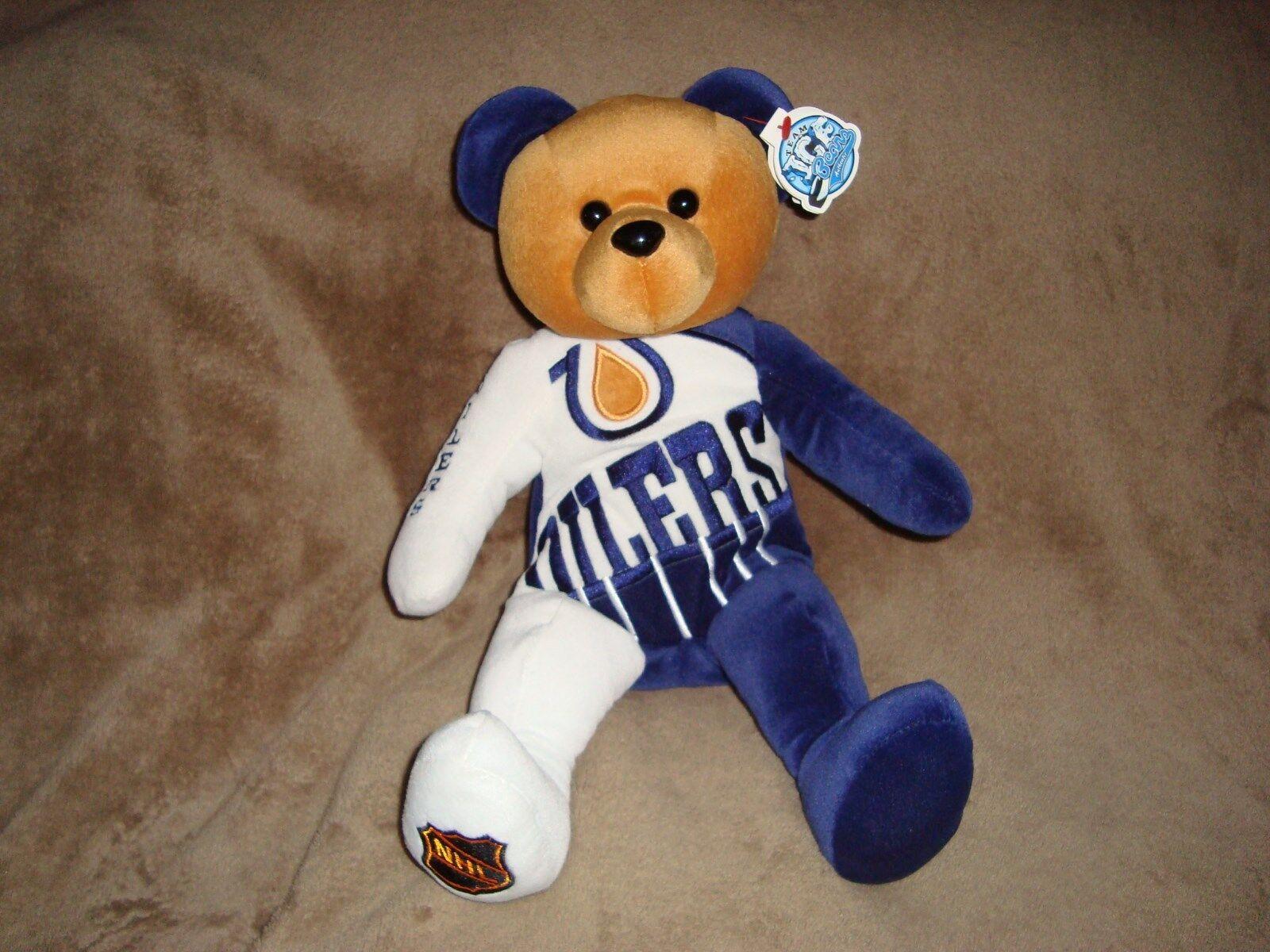 Team Ice Bear Authentic Edmonton Oiles Plush & Beans 13