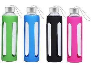 glasflasche trinkflasche glas sportflasche bpa frei wasser. Black Bedroom Furniture Sets. Home Design Ideas