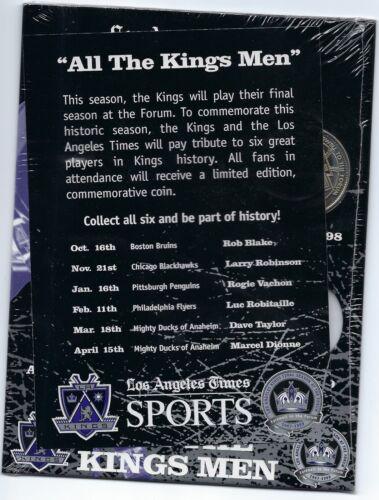 LA Kings Hockey Coin 1998//99 Marcel Dionne SGA