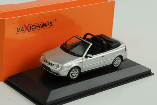 VW Golf IV Volkswagen Cabriolet Silver 1998 1:43 Minichamps Maxichamps