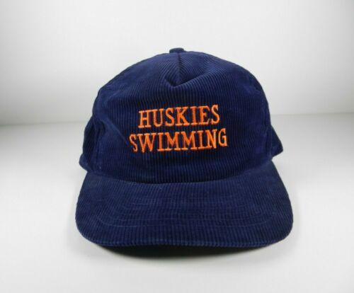 Vintage Huskies Swimming Corduroy Hat Snapback Cap