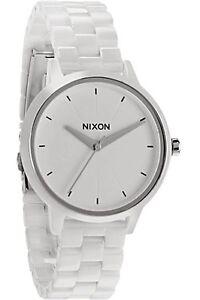 Nixon-CERAMIC-KENSINGTON-A261-100-White-Analog-Women-039-s-Wristwatch-Watch