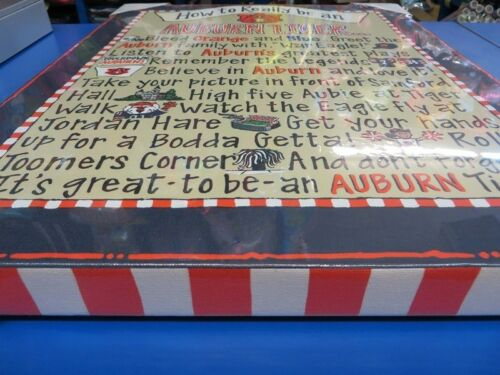 """Auburn Tigers How to Really Be Canvas NCAA College Print Art Wall Decor 16/""""x20/"""""""