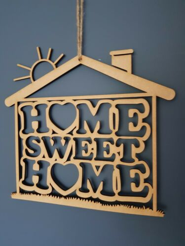 A101 Home Sweet Home Suspendu Plaque Murale Signe MDF 255 mm x 240 mm Shabby Chic