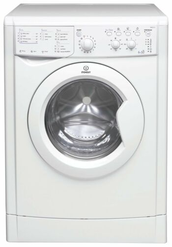 5KG 1200 Spin Washer Dryer White Indesit IWDC 6125 6KG Install /& Recycle