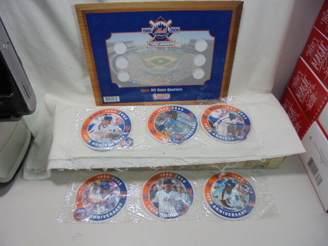 20th Anniversary Weltmeisterschaft 2006 New York Mets Ny Staat Quarter Set