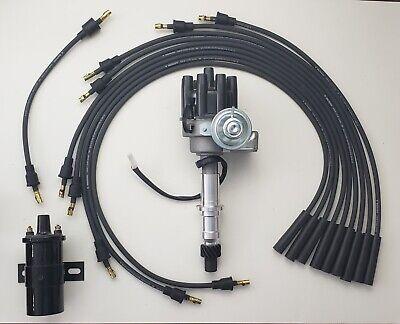 Chrome 45k Coil PONTIAC 326 350 389 400 455 Small BLACK FEMALE HEI Distributor