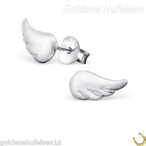 Details zu Engel Flügel Ohrstecker 925 Echt Silber Kinder Ohrringe Damen Mädchen z 353 V