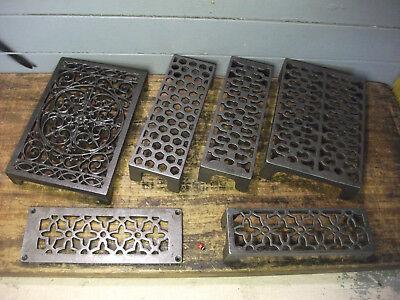 "Victorian Cast Iron Air Vent Grate Grill Brick Ventilation Antique Old  8.5/""x 3/"""