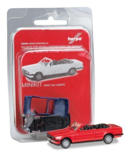 BMW 3er E30 Cabrio 1:87 Herpa 012225-005 MiniKit rot H0