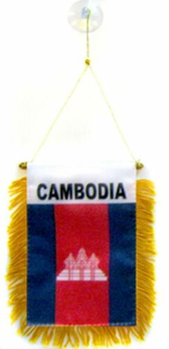 Cambodia MINI BANNER FLAG CAR /& HOME WINDOW MIRROR HANGING 2 SIDED