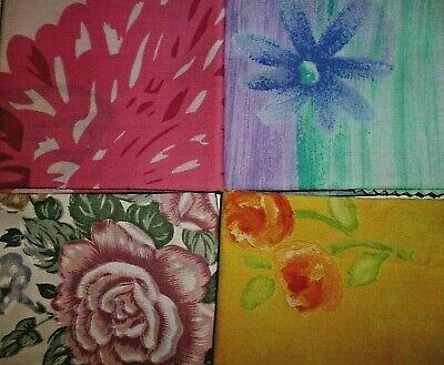 material remnants//offcuts//scraps 4 floral designs