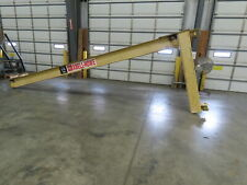 Abell Howe 12 Ton Wall Mount Cantilever Work Station Jib Crane 20 Span I Beam