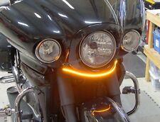 Kawasaki Vaquero Amber LED Front Turn Signal Light Bar Kit, Clear Lens  '09-'17