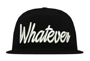 Cup-Kappe-034-WHATEVER-034-Snapback-era-swag-bulls-obey-fun-yolo-xo-street-hip-hop-rap