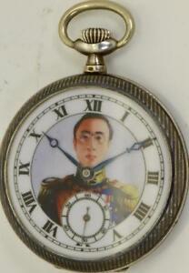 Important-historic-silver-amp-niello-pocket-watch-Emperor-Pu-Yi-of-China-RARE