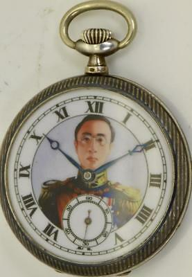 Special Section Important Historic Silver&niello Pocket Watch 掛表 挂表.emperor Pu Yi Of China.rare Exquisite Traditional Embroidery Art Other Chinese Antiques