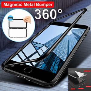 9798fa34220 For iPhone 6 7 8 Plus Ultra Slim 360° Full Body Hard Case Tempered ...