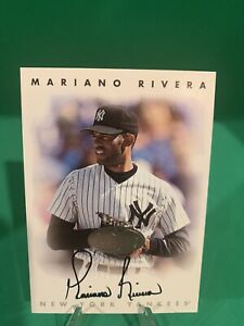 1996 LEAF SIGNATURE MARIANO RIVERA SILVER Parallel SSP On Card Auto Yankees