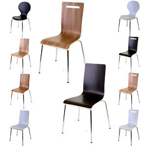 Image is loading Dining-Chairs-Stacking-Chair-Kitchen-Home-Office-Stackable-  sc 1 st  eBay & Dining Chairs Stacking Chair Kitchen Home Office Stackable Chairs ...