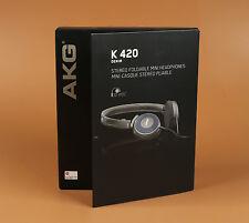 AKG K420 Foldable Mini Headband Headphones - Gray/Blue Brand New Classic headset
