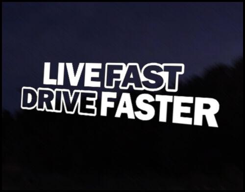Unidad de disco rápido en vivo más rápido Euro Vag Coche VW Decal Sticker vehículos Bicicleta Parachoques Vinilo