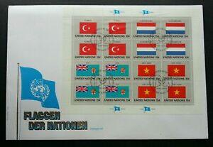[SJ] United Nations Turkey Luxembourg Fiji Vietnam Flag 1980 (sheetlet FDC)