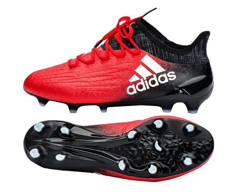 Adidas X 16.1 FG botas Zapatos Botines de fútbol de BB5618 Rojo límite