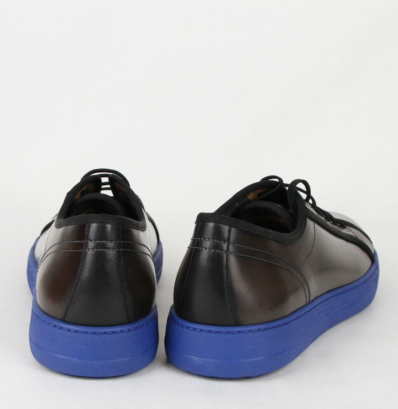 New Salvatore Ferragamo Men's Fulton Dark Silver Silver Silver Leather Sneakers 659672 215d1f