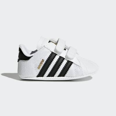 Newborn Adidas Originals Superstar Crib Shoes (S79916) White // Black