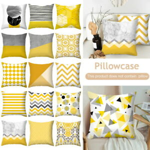 Cotton-Linen-Sofa-Throw-Pillow-Case-Home-Car-Waist-Decor-Yellow-Cushion-Cover-S