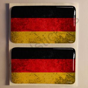 Pegatinas-Alemania-Pegatina-Bandera-Manchada-Vieja-Adhesivo-3D-Relieve-Resina