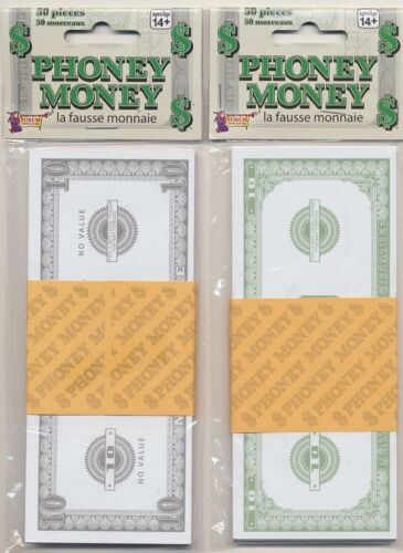50 Bills Total Phoney Paper Money $10 Bills Fake Cash  New FREE SHIPPING *