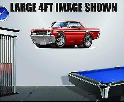 Vintage 1965 Mercury Comet Caliente 427 Wall Decal Sticker Graphic Poster NEW