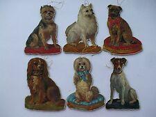 Vintage Christmas Tree Ornaments Victorian Style Dogs Pug Jack Terrier Merrimack